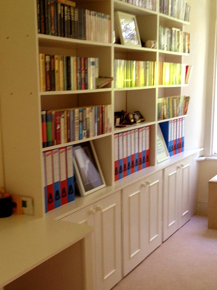 MDF Bespoke Fitted Shelving Living Room Furniture Unit (Finished)