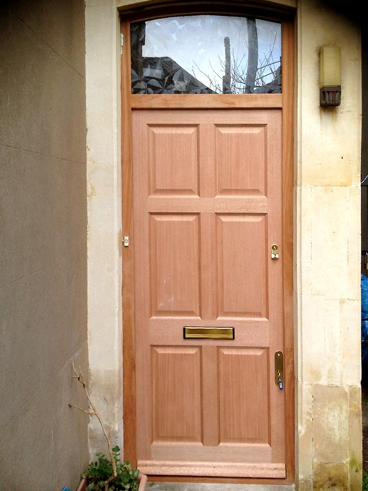 Six Panel Door With Curved Headed Frame